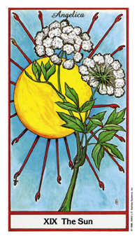 The Sun Tarot Card - Herbal Tarot Deck