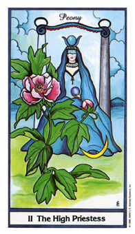 The High Priestess Tarot Card - Herbal Tarot Deck