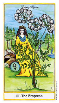 The Empress Tarot Card - Herbal Tarot Deck