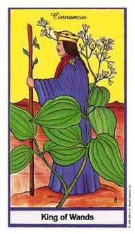 King of Wands Tarot Card - Herbal Tarot Deck