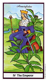 The Emperor Tarot Card - Herbal Tarot Deck