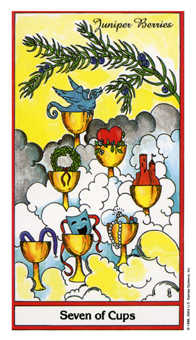Seven of Water Tarot Card - Herbal Tarot Deck