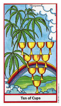 Ten of Hearts Tarot Card - Herbal Tarot Deck