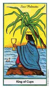 King of Cups Tarot Card - Herbal Tarot Deck