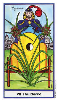 The Chariot Tarot Card - Herbal Tarot Deck