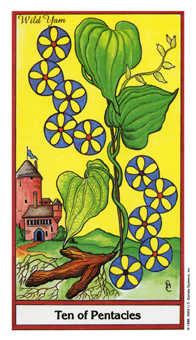 Ten of Coins Tarot Card - Herbal Tarot Deck