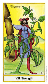 Strength Tarot Card - Herbal Tarot Deck