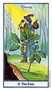 The Fool Tarot card in Herbal deck
