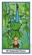 The Hanged Man Tarot card in Herbal deck