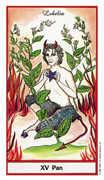 The Devil Tarot card in Herbal Tarot deck