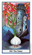 The Tower Tarot card in Herbal deck