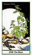 The Moon Tarot card in Herbal deck