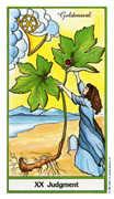 Judgement Tarot card in Herbal Tarot deck