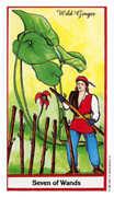 Seven of Wands Tarot card in Herbal Tarot deck