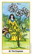The Empress Tarot card in Herbal Tarot deck