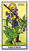 Knight of Wands Tarot card in Herbal deck