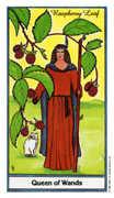 Queen of Wands Tarot card in Herbal deck
