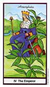 The Emperor Tarot card in Herbal deck
