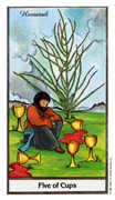 Five of Cups Tarot card in Herbal Tarot deck