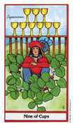 Nine of Cups Tarot card in Herbal Tarot deck
