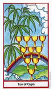 Ten of Cups Tarot card in Herbal deck