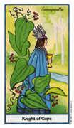 Knight of Cups Tarot card in Herbal Tarot deck