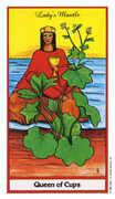 Queen of Cups Tarot card in Herbal Tarot deck