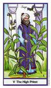The Hierophant Tarot card in Herbal Tarot deck