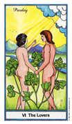 The Lovers Tarot card in Herbal Tarot deck