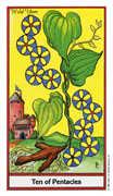 Ten of Coins Tarot card in Herbal Tarot deck