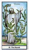 The Hermit Tarot card in Herbal deck