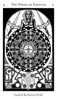 Wheel of Fortune Tarot Card - Hermetic Tarot Deck