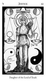 Justice Tarot Card - Hermetic Tarot Deck
