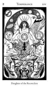 Temperance Tarot Card - Hermetic Tarot Deck