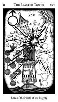 The Falling Tower Tarot Card - Hermetic Tarot Deck