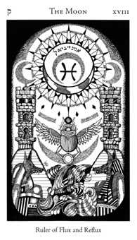 The Moon Tarot Card - Hermetic Tarot Deck
