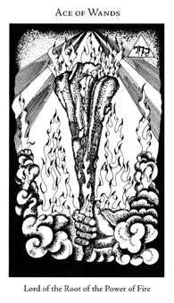 Ace of Rods Tarot Card - Hermetic Tarot Deck