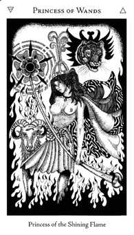 Page of Staves Tarot Card - Hermetic Tarot Deck