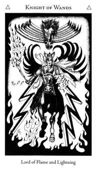 Knight of Rods Tarot Card - Hermetic Tarot Deck