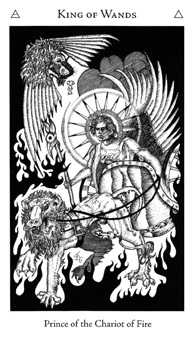 King of Staves Tarot Card - Hermetic Tarot Deck
