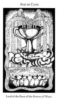 Ace of Ghosts Tarot Card - Hermetic Tarot Deck