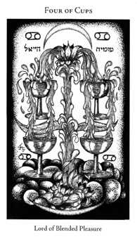 Four of Ghosts Tarot Card - Hermetic Tarot Deck