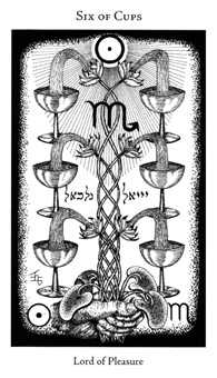 Six of Hearts Tarot Card - Hermetic Tarot Deck