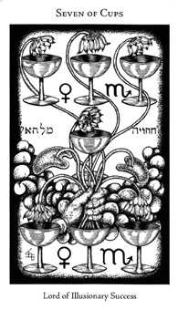 Seven of Ghosts Tarot Card - Hermetic Tarot Deck