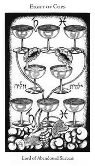 Eight of Bowls Tarot Card - Hermetic Tarot Deck