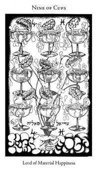 Nine of Bowls Tarot Card - Hermetic Tarot Deck
