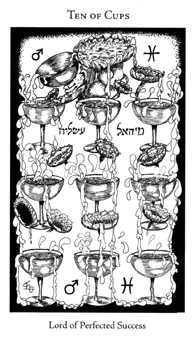 Ten of Cauldrons Tarot Card - Hermetic Tarot Deck