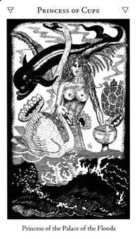 Princess of Cups Tarot Card - Hermetic Tarot Deck