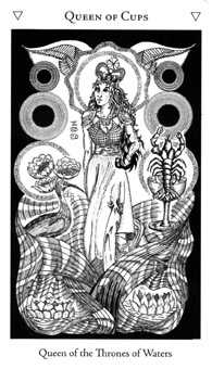 Queen of Hearts Tarot Card - Hermetic Tarot Deck