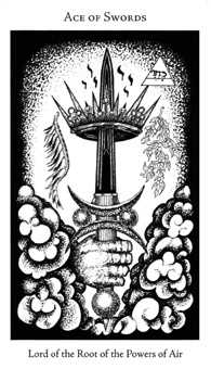 Ace of Bats Tarot Card - Hermetic Tarot Deck